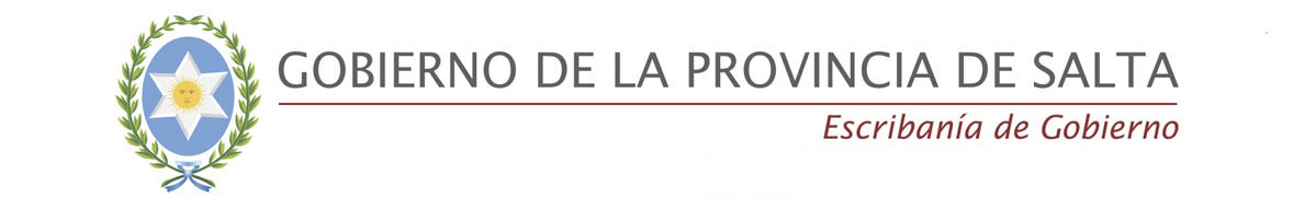 Escribanía de Gobierno de Salta