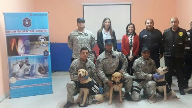 La Escribanía certificó la prueba de canes de la Policía en odorología forense